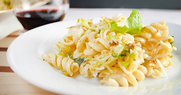 Rotini with Brussel Sprouts and Mascarpone