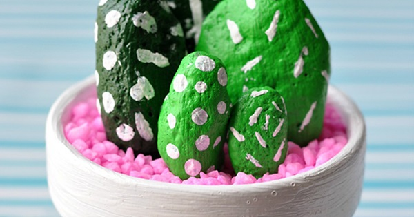 How to Make a Cactus Stone Planter