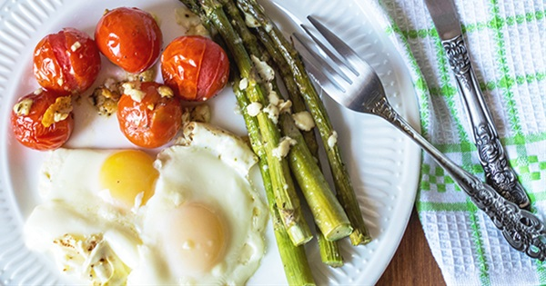 Roasted Veggies with Baked Eggs