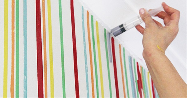Make Your Own Unique Painted Wall in 5 Quick & Easy steps