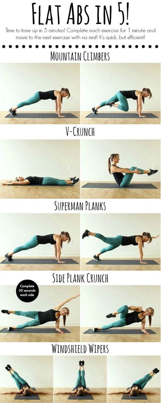 10 Easy Abs Workouts To Flatten Your Belly
