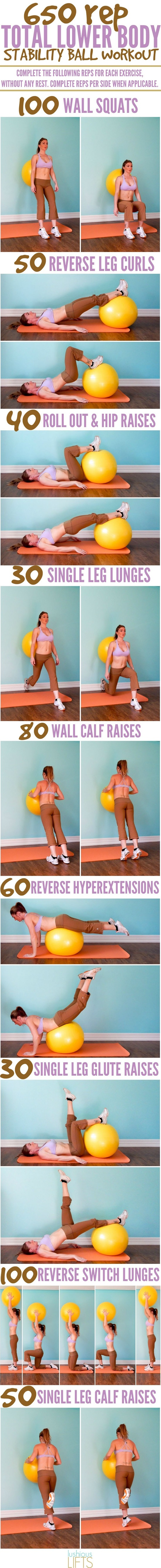 7 Best Stability Ball Workouts For Every Part of Your Body