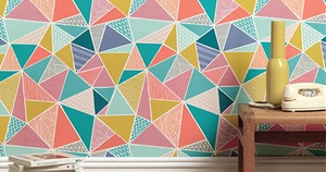 15 Striking Geometric Wallpapers that Make a Statement in Any Interior