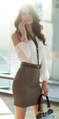 style , I would try with a less office type skirt personally as I wouldn't rock that blouse to my job but jeepers it's pretty !