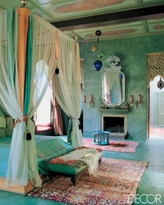 Morrocan blue bedroom