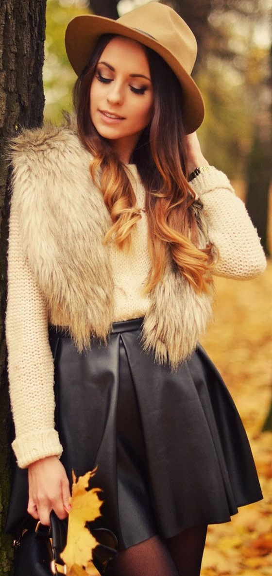 Autumn fashion style that csptures her beauty and expresses her attitue
