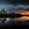 Sunset at TAJ by Lal  Nallath