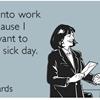 Healthy work ethic.