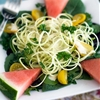 Spiralized Raw Zucchini Pasta in Curry Cream Sauce