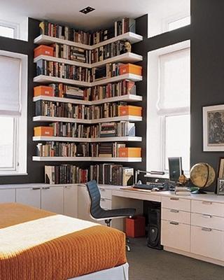 corner book shelves and bookshelves.
