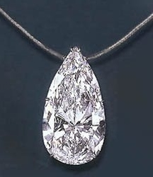 75 carat pear shaped diamond - 5 million dollars!