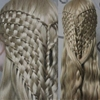 What would Khaleesi wear? Waterfall twists and basket weaving. submitted by my-asgardian-soul