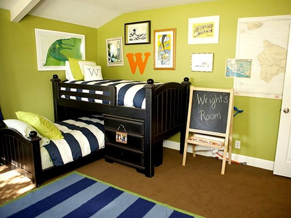 This is the number one theme in boy's rooms nationwide! Could it be that parents are hoping calm waters and ocean breezes may have positive side-affects? From seaside cottages to So. Cal surfers, all it takes is a touch of citrus hues paired with navy or aqua (here by Anthology Interiors) to make a room summer-y all-year round.