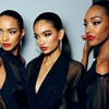 Lais Ribeiro, Kelly Gale, & Jourdan Dunn backstage at Jean Paul Gaultier Spring/Summer 2013, Paris Fashion Week.