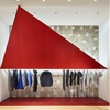 Tokujin Yoshioka installs giant red triangles for Tokyo Issey Miyake store