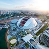 Singapore national stadium boasts world's largest free-spanning dome