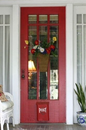 Front door ideas. Red front door.