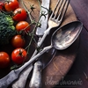 Vegetable in wooden plate by jelena jovanovic