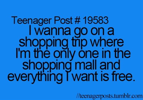 Can't afford to shop because we're too broke paying rent and bills! Lol
