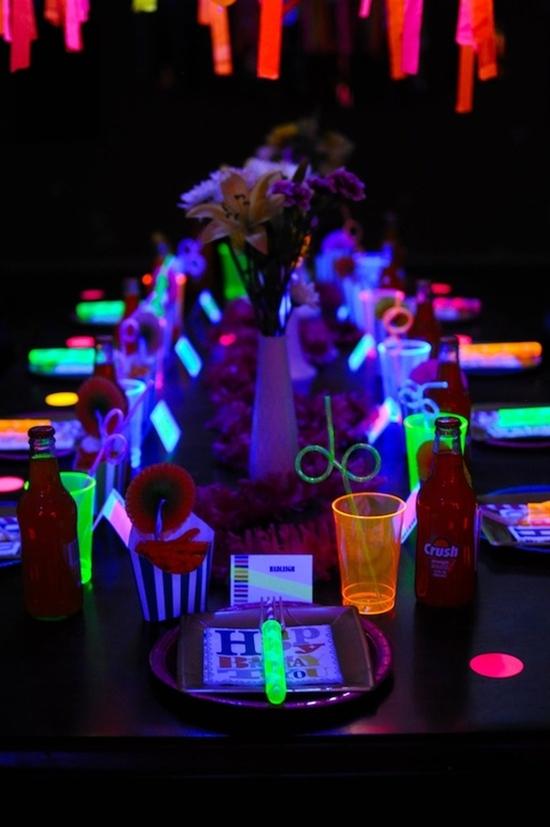 decoracao festa glow