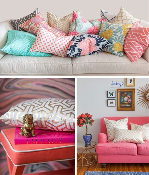 Gorgeous spring pillows and fabrics from Caitlin Wilson Textiles.