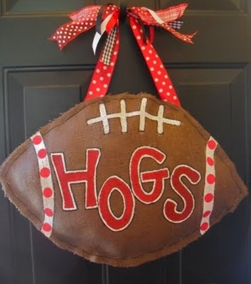 "fun football ""wreaths"" change to Noles and it is perfect!"