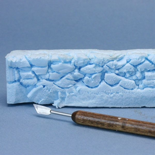 Make Scale Model Stone Walls from Recycled Styrofoam and Paint: How to Carve Faux Stone Effects in Rigid Foam