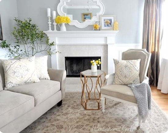 Living Room, Gray and yellow