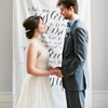 Amazing Wedding Ideas: Calligraphy Ceremony Backdrop