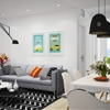 Scandinavian Apartment With Adorable Art and Classic Colors