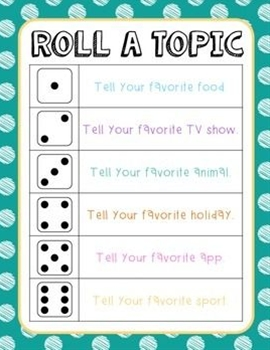 """Use this activity as an ice breaker for the first week of school or as a classroom community builder. I have my students sit in a circle around our carpet, and I project the """"Roll a topic"""" sheet up on the SmartBoard. Each student takes a turn rolling the dice and answering the corresponding question."""
