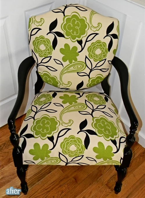 I love the revamp job on this chair!  Check the blog post for the before picture!