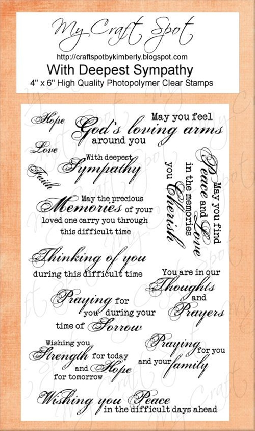 My Craft Spot: DT Post by Heather - Beautiful Sympathy card