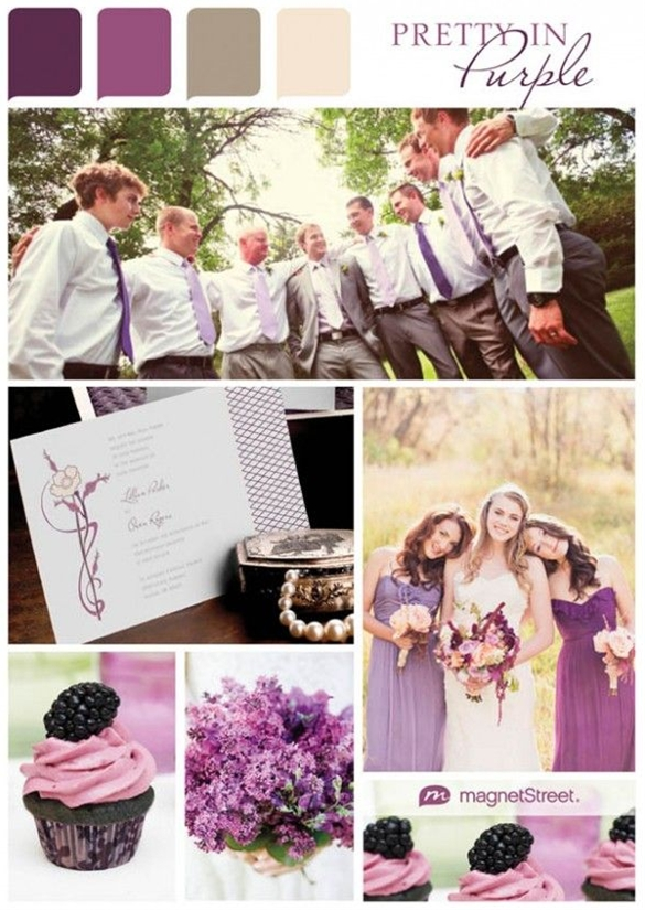 What do you get when you mix red and blue–but a mysterious and majestic blend of hot and cool. Eggplant purple is one of today's hottest wedding colors, and rightly so–it's a perfect hue for any season.
