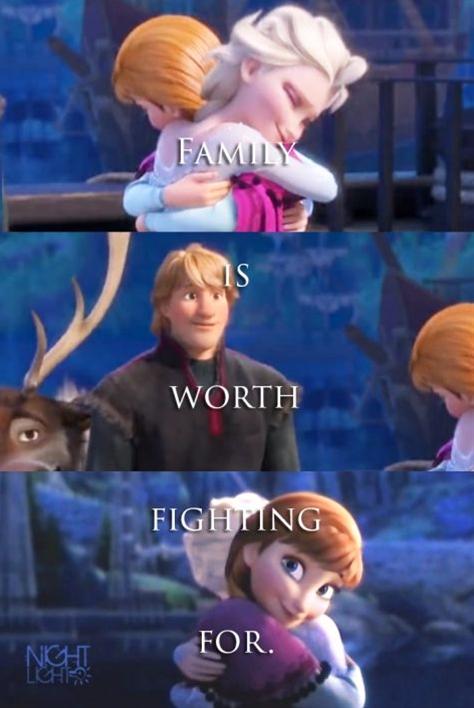 Anna, Elsa, and Kristoff