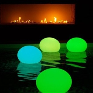 Put a glow stick in a balloon for pool party lanterns