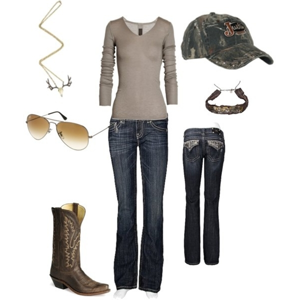 My little Country outfit! =)  I love three quarter length shirts!
