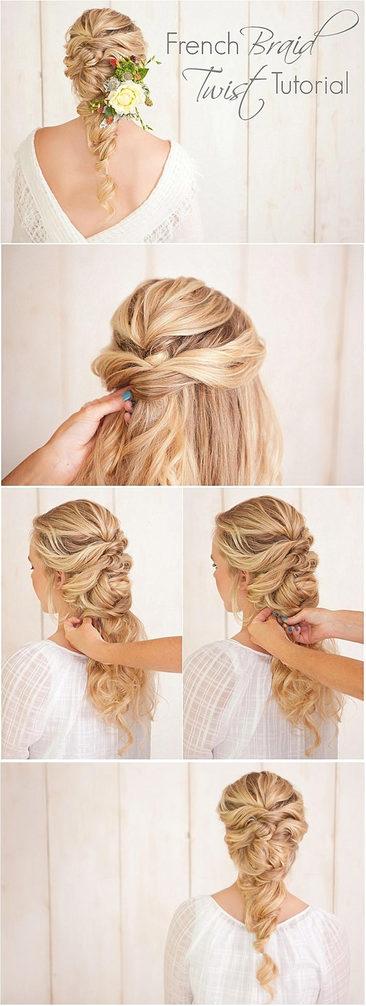 Love this wedding hairstyle idea! Click to see the full tutorial.