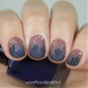 Desert evening nail art with Barielle Me Couture polishes. http://www.wondrouslypolished.com/2014/10/barielle-me-couture-fall-2014-swatches.html
