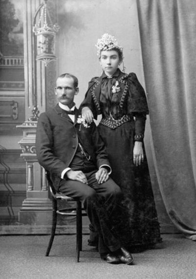 Did you know that up until the death of Queen Victoria in 1907, the traditional color for a wedding gown was black, not white?  Take a look at those old family photos again. Could one of them be a wedding photo?  #genealogy