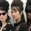 Dying over this girl gang backstage at Adam Selman Hair: Bumble...