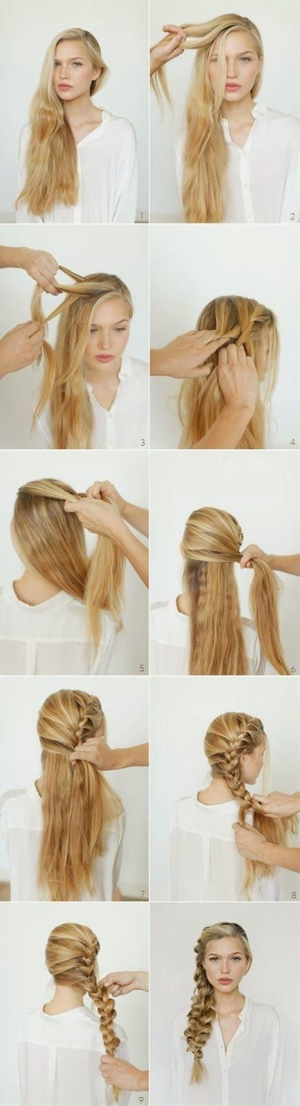 Do you want to create a new and fun hairstyle on on your long hair? You can refer the romantic side braided hairstyle.