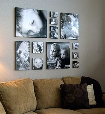I love the look of large portrait canvases in a room. They are personal, elegant and tell a story that no piece of store-bought art could ever do. They are also very expensive.