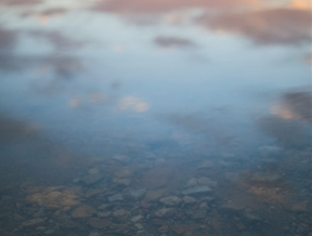 it's translucent as calm lake water by Richard Mallett...