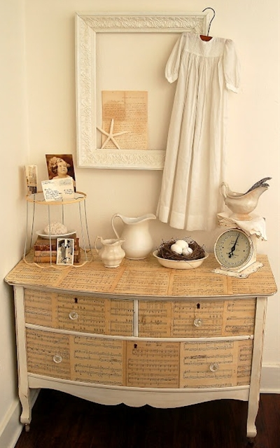 Modge Podge an Old Dresser #crafts