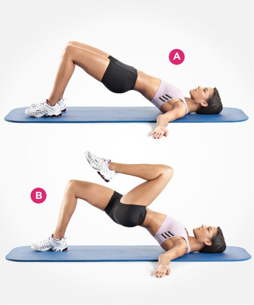 great exercise for toning glutes and hamstrings... and even core! Be sure to have your hips level when you perform this exercise!!
