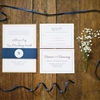 A Classic Navy and White Wedding