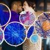 DIY Embroidery Hoop Centerpieces