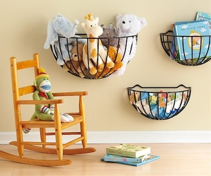 Garden baskets for toy storage