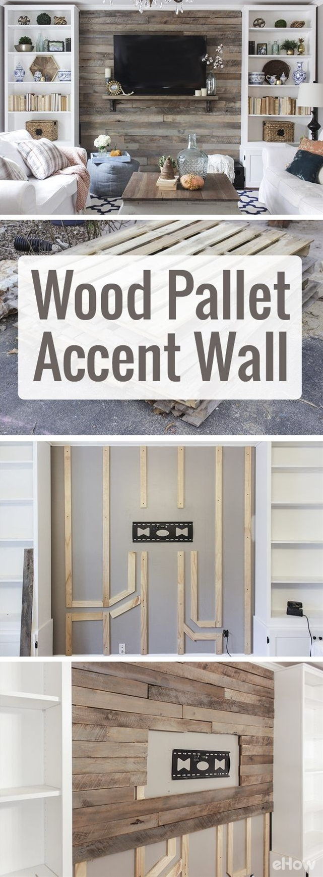 Using pallets makes this home makeover so inexpensive and easy to DIY!\n\n